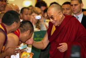 Dalai Lama arriving in Sydney